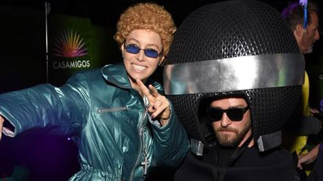 Jessica Biel se déguise en Justin Timberlake version NSYNC pour Halloween (photo)