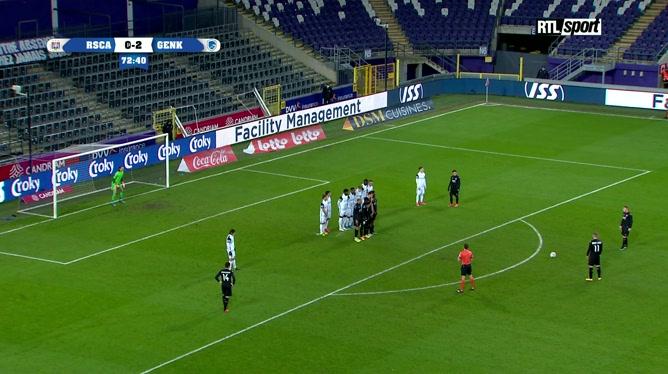 Anderlecht - Genk: Adrien Trebel marque un super coup franc