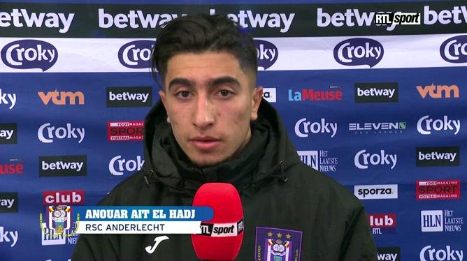 Réaction de Anouar Ait El Hadj après Anderlecht - Genk en Croky Cup