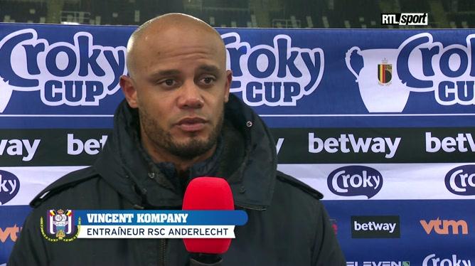 Réaction de Vincent Kompany après Anderlecht - Genk
