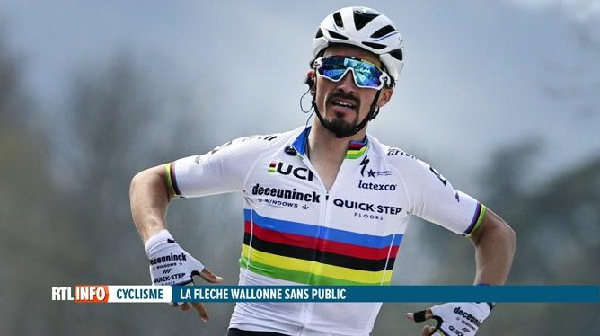 Julian Alaphilippe remporte la Flèche Wallonne pour la troisième fois