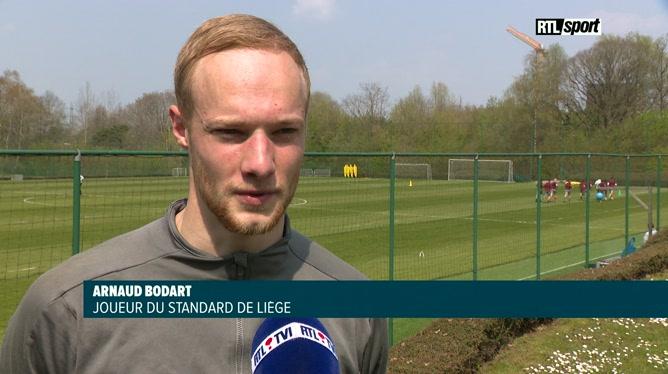 Arnaud Bodart avant la finale de la Croky Cup entre le Standard et Genk