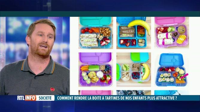 Comment rendre la boîte à tartines de vos enfants plus attractive? Julien Lapraille ne manque pas d'idées!