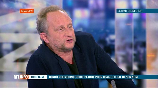 Des arnaqueurs utilisent le nom de Benoît Poelvoorde sur Internet
