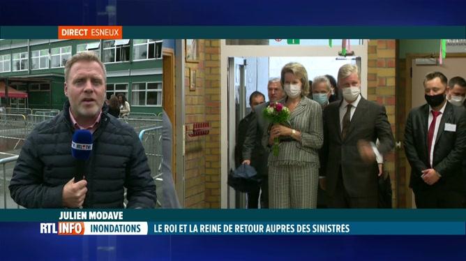 Inondations, 2 mois après: les souverains terminent leur visite à Esneux
