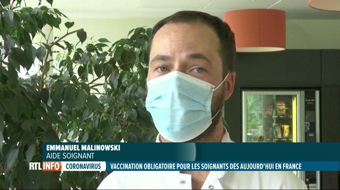 Coronavirus: l'obligation vaccinale des soignants entre en vigueur en France