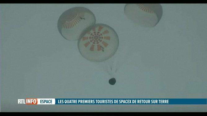 Les touristes spatiaux de Space X sont revenus en Floride