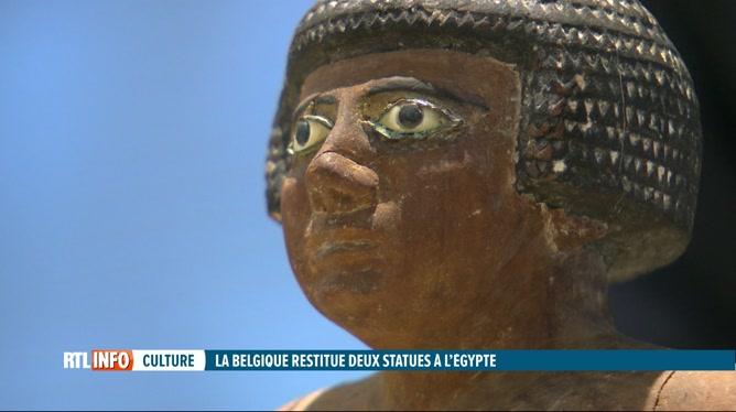La Belgique restitue à l'Egypte 2 statuettes antiques volées en 2015