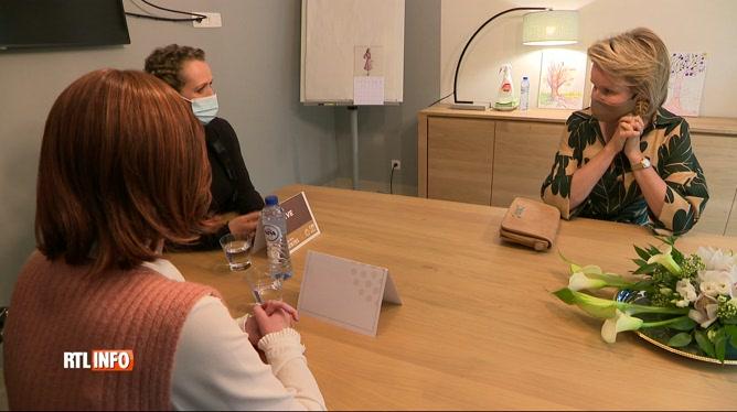 La Reine Mathilde a visité l'espace bien-être L'essentiel