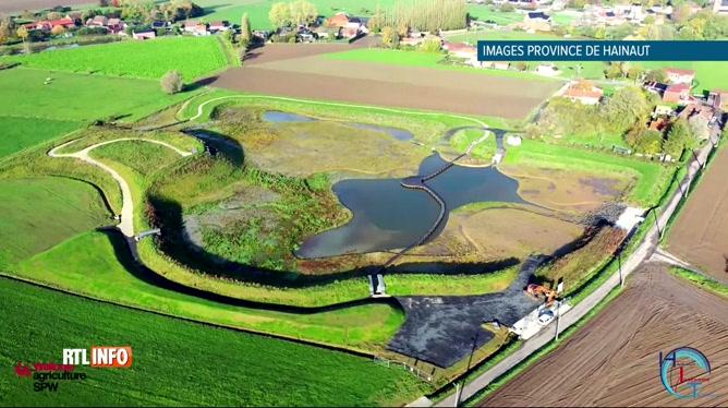 Inondations: Willemeau (Tournai) inagure une zone d'immersion temporaire (ZIT)