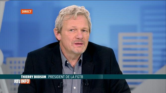 Thierry Bodson est l'invité de Pascal Vrébos après le RTLInfo 13H