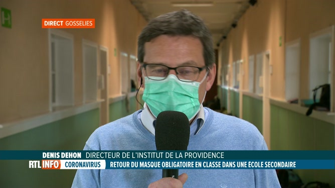Coronavirus: le masque imposé aux élèves d'une école de Gosselies