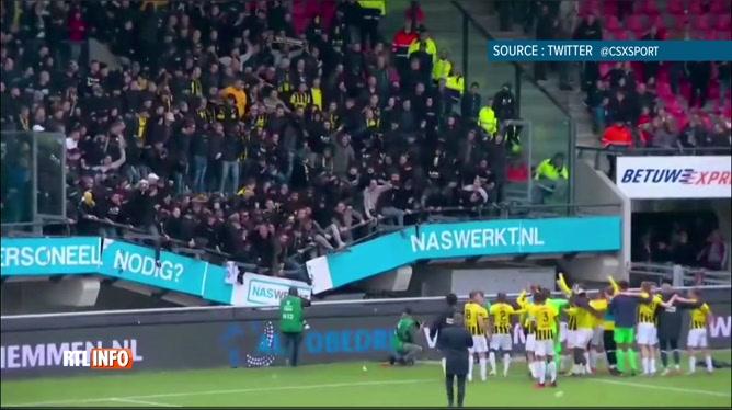 Pays-Bas: une tribune du stade de Nimègue s'est partiellement écroulée