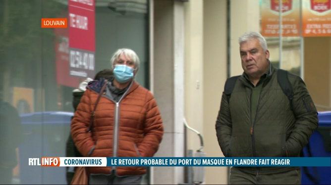 Coronavirus: le masque pourrait être à nouveau obligatoire en Flandre